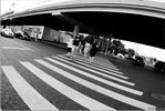 Ломография - чб фото чернобелое ломография переход улица москва