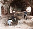 Вот и пол показался - раскопки востановление храм церковь кирпичи
