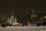 Красная площадь под новый год - снег кремлб храм мовзолей
